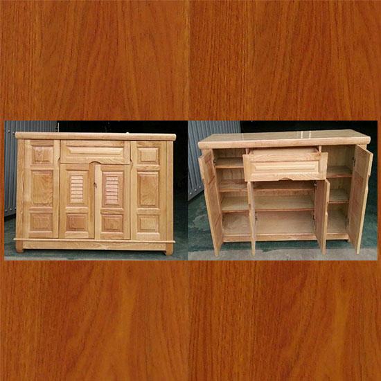 Tủ giày gỗ  Sồi Nga 4 cánh